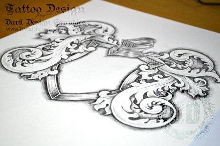 coat of arms tattoo template drawing