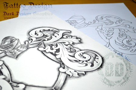 coat of arms tattoo template stencil drawing