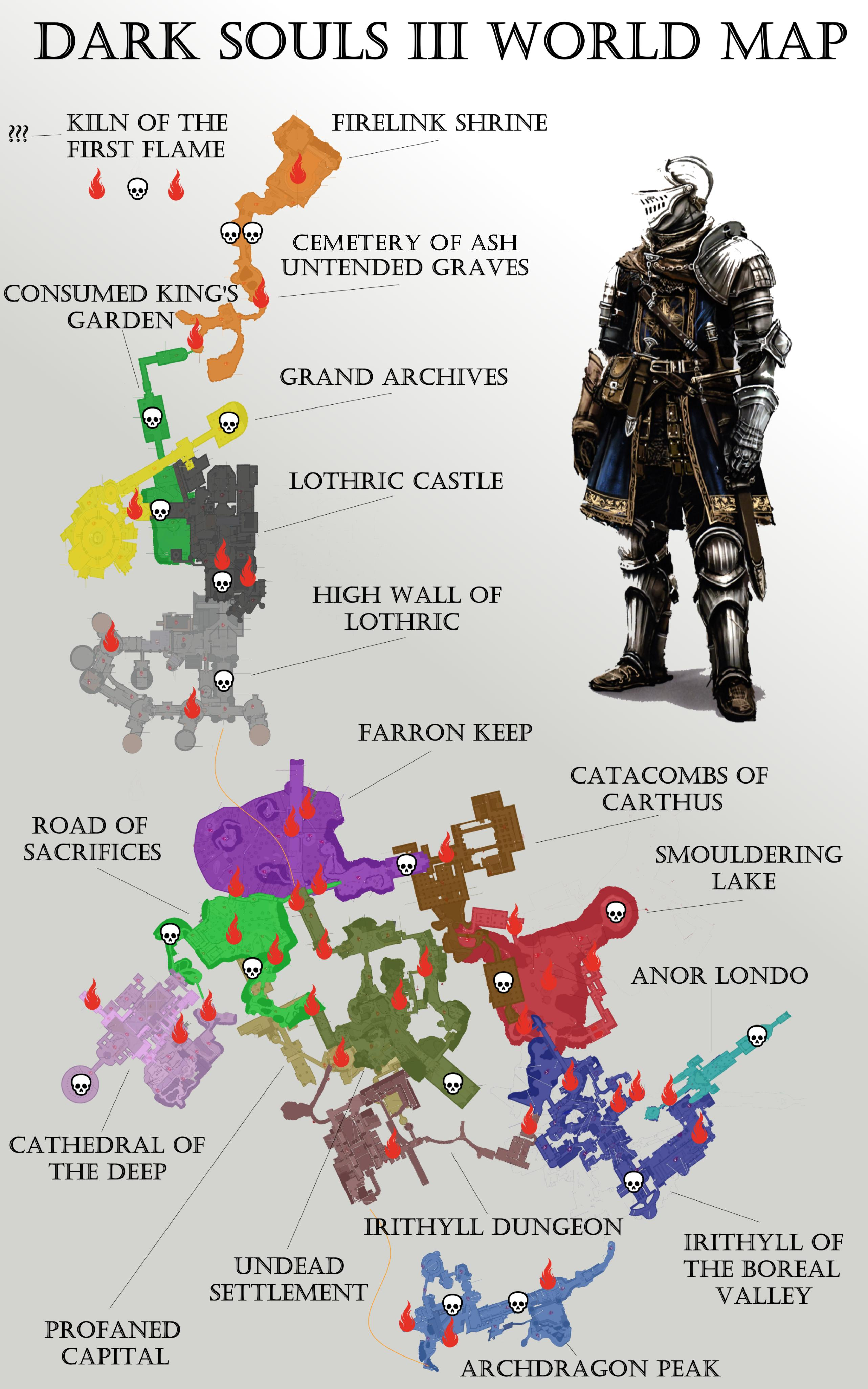 ... Dark Souls 3 World Map ...