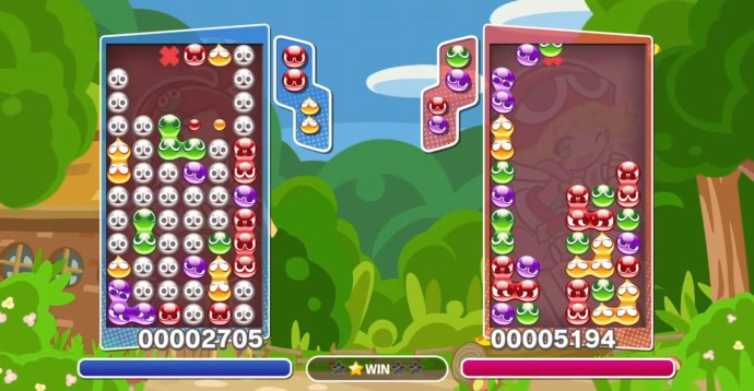 Puyo Puyo Tetris takes advantage of the eccentricities of both games
