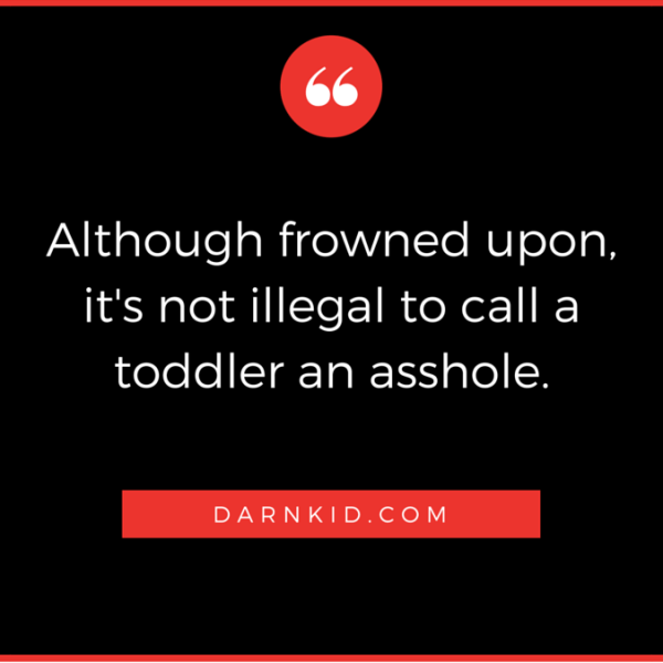 It's Not Illegal To Call A Toddler An Asshole Meme