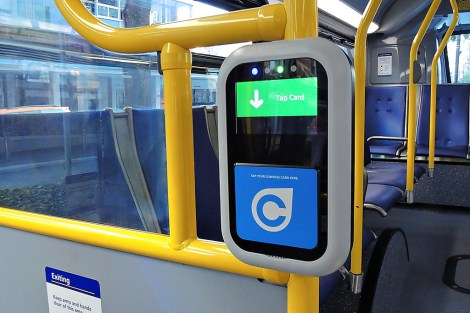 A working compass card reader on a TransLink bus. Photo: CC-BY-NC-ND · Steve ·