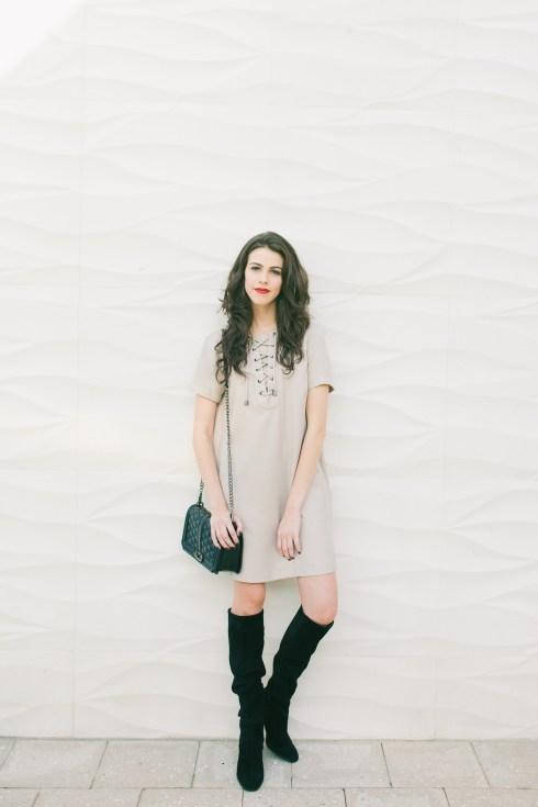 Topshop - Lace up Dress- Dash of panache