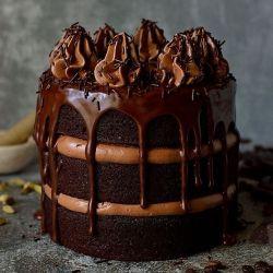 Chocolate Coffee Cardamom Layer Cake With Swiss Meringue Buttercream