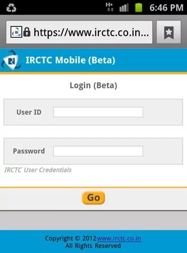 IRCTC Mobile Friendly portal
