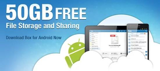 BOX Giving Away 50GB Free Cloud Hosting Personal Account for Android Users
