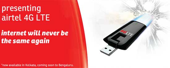 Airtel 4G LTE Service Now Available at Bengaluru - Plans, Devices and Coverage
