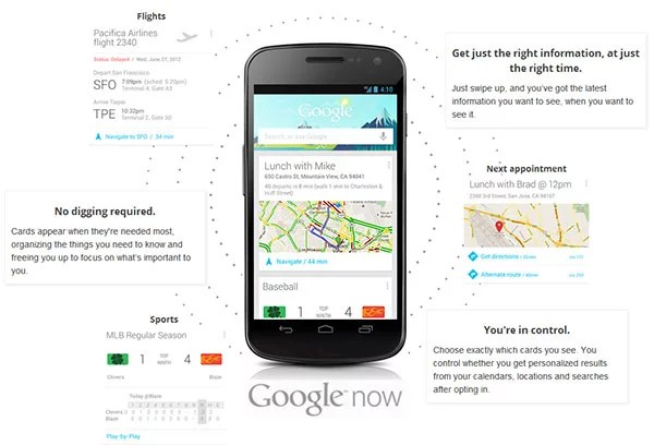 Google Now: gets you just the Right Information at just the Right Time