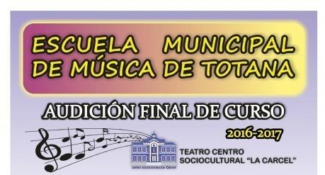 Hoy comienza el programa de audiciones en diferentes disciplinas musicales con motivo de la clausura del curso 2016/2017 de la Escuela de Música de Totana