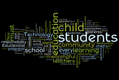 """Statement of Educational Philosophy Wordle ~ by David Truss"""