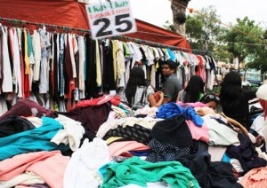 SECONDHAND.  Ukay-ukay stalls -- where used clothes and other materials are sold at cheaper prices compared to new and signature ones -- abound in Davao City's downtown area.  Many cash-strapped locals patronize ukay-ukay.  (davaotoday.com photo by Medel V. Hernani)