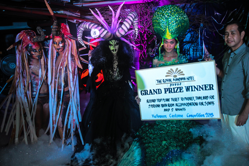 HALLOWEEN COSTUMES The winner of the best costume of the First Halloween Underground Foam Party at the Royal Mandaya Hotel receives a 50,000 pesos cash prize and a round trip ticket to Phukket, Thailand. (davaotoday.com photo by Ace R. Morandante)