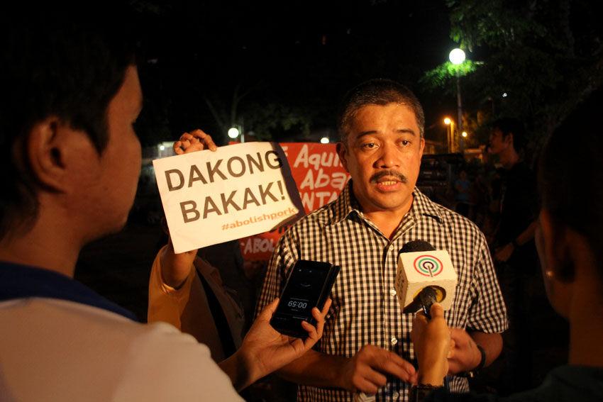 Bayan Muna partylist representative Attorney Carlos Zarate said President Aquino's defense of the Disbursement Acceleration Program (DAP) makes him sound like a dictator for challenging the Supreme Court's decision that struck down DAP as unconstitutional.