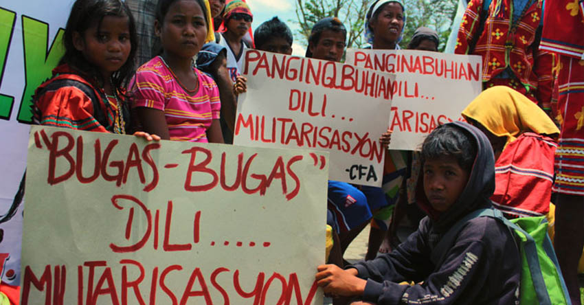 Typhoon Pablo survivors protest entry of mining company