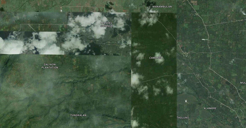 Google Satellite Image of the Bagobo-Klata Ancestral Domain Claim
