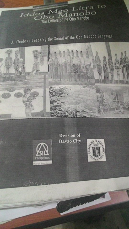 A xerox copy of  a teaching guide of the Obo-Manobo in Davao City