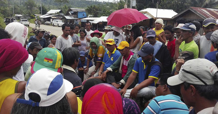 Farmers put-up camp to halt mining exploration in Compostela Valley