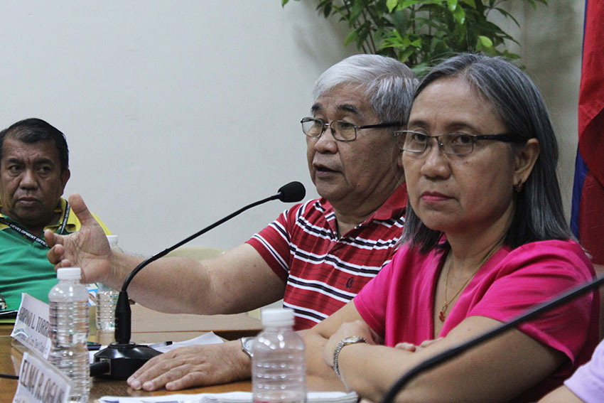 Davao City Cooperative Development Council Chairman, Agripino L. Torres (center) and Cooperative Development Authority (CDA) Regional Director, Elma R. Oguis (left)  urge everyone to form a cooperative and said their offices are willing to assist interested groups. (Medel V. Hernani/davaotoday.com)