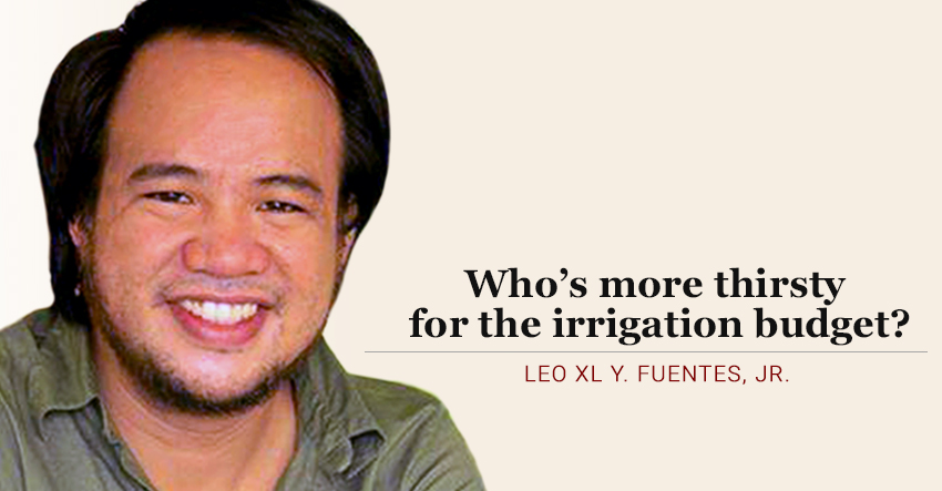 Who's more thirsty for the irrigation budget?