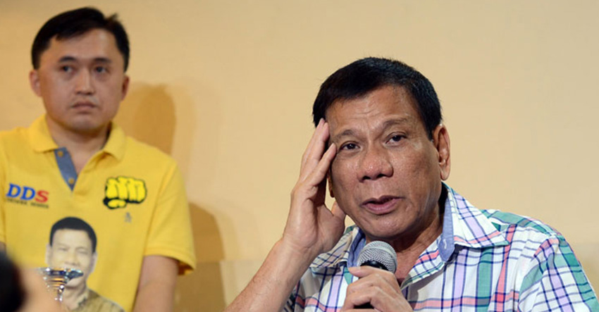 """Thanks, but sorry"": Duterte says he will not run for 2016 presidency"