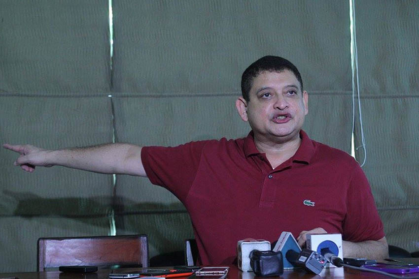 Senator Teofisto Guingona III calls for the capture of the identified suspects in the killing of a school administrator and two Lumad leaders in Lianga town, Surigao del Sur on September 1. The suspects are alleged members of the paramilitary group Magahat Bagani Force. (Ace R. Morandante/davaotoday.com)