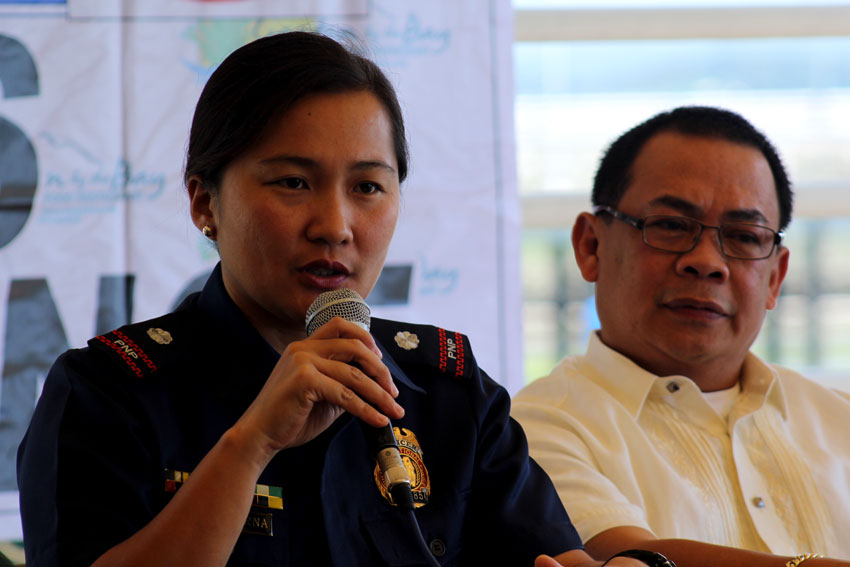 Police Senior Inspector Andrea dela Cerna, spokesperson of Police Regional Office XI says they have yet to identify the suspect of the bombing in Ecoland, Davao City on November 18.  (Ace R. Morandante/davaotoday.com)