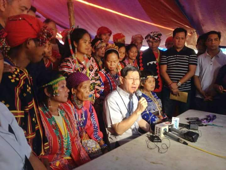 Tagle: Pull out military troops in Lumad communities