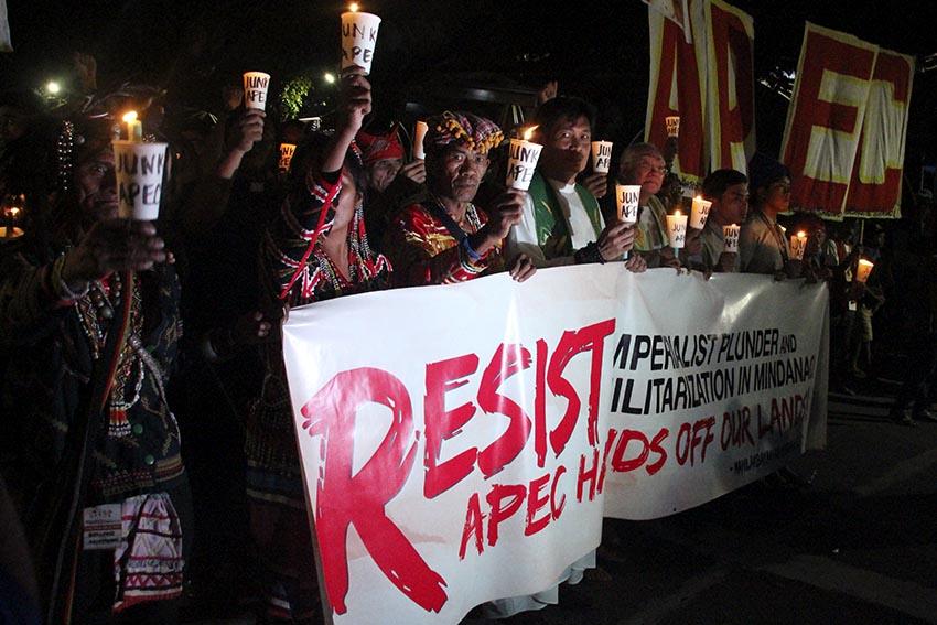 Church, Lumads protest against APEC