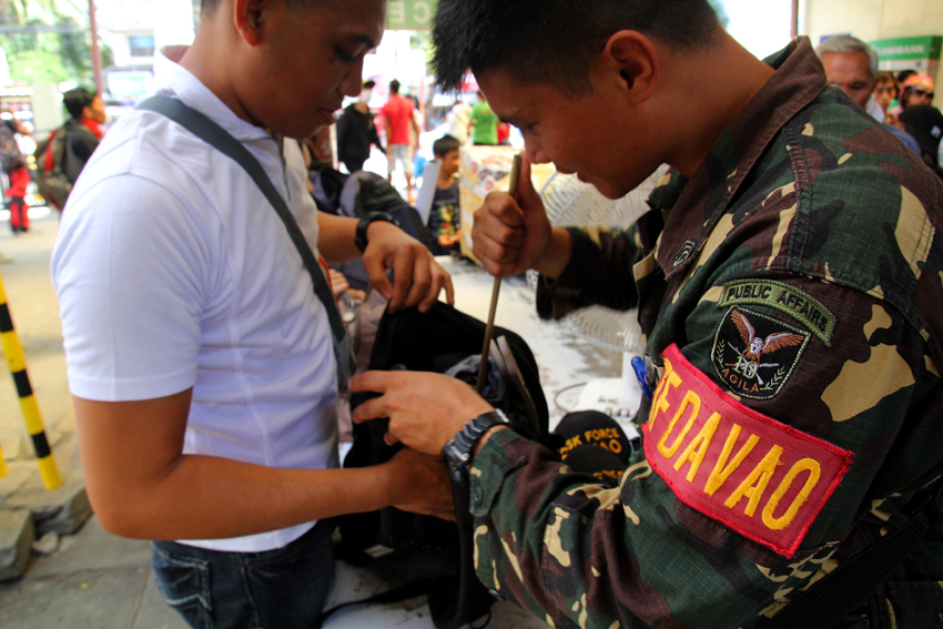 """Davao City gov't to carry out """"No Backpack"""" rule during midterm polls"""