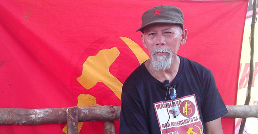 New Peoples' Army National Spokesperson Ka Oris (davaotoday.com file photo)