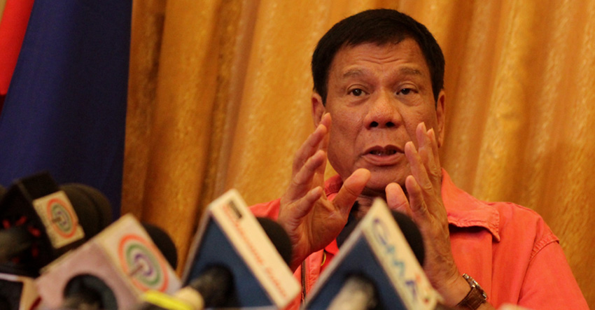 Presumptive President Rodrigo R. Duterte (file photo)