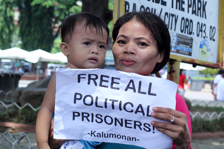 Robelyn Montecalvo, whose husband Allan Motecalvo, is a political detainee, is hopeful that her husband will be released under the Duterte administration. (Ace R.Morandante/davaotoday.com)