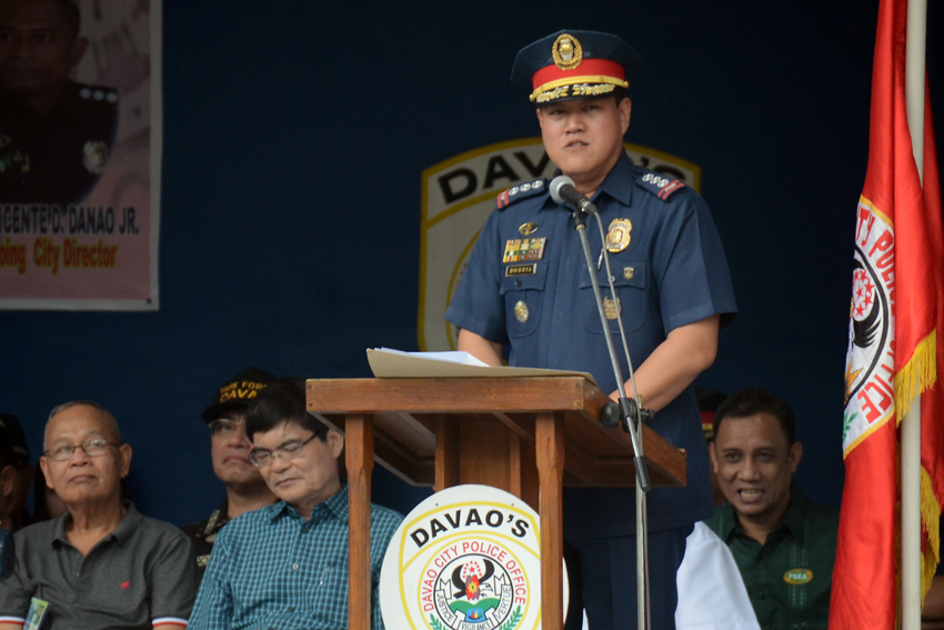 NEW POLICE CHIEF. Davao City Police Office's new chief, Police Senior Superintendent Michael John Dubria, assumes the position on Friday, June 24. (Ace R. Morandante/davaotoday.com)