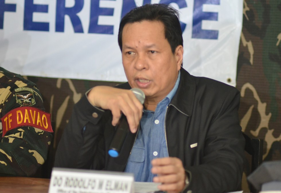 Deputy Ombudsman Rodolfo Elman speaking in a press conference in Davao City on Wednesday, July 20 about high-ranking government officials in Mindanao who were involved in graft practices and criminality. (Medel V. Hernani/davaotoday.com)