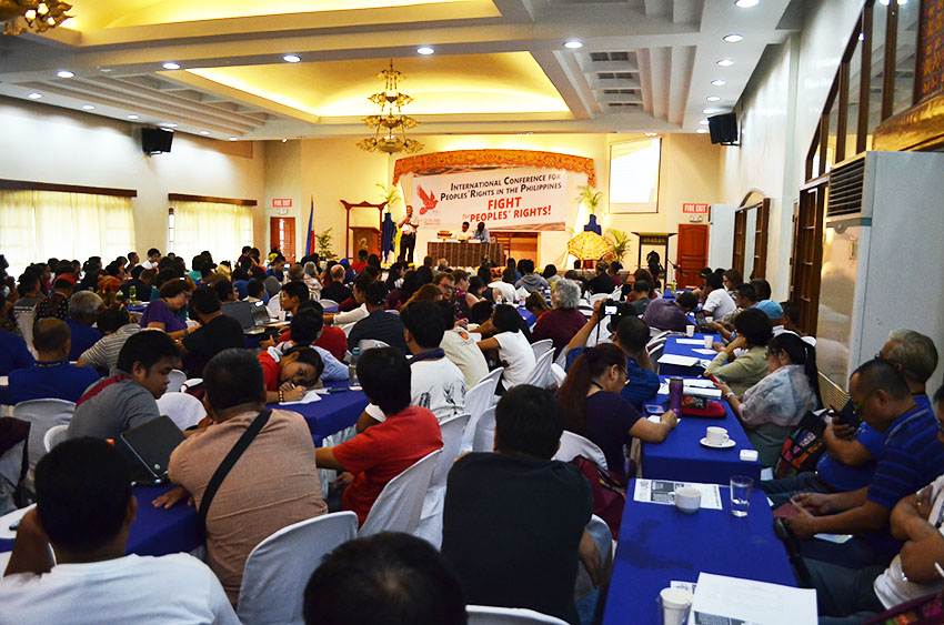 Around 200 delegates from different countries join the 2nd General Assembly of the International Coalition for People's Rights in the Philippines which opened on Thursday, July 21 at the Brokenshire Convention Center in Madapo Hills, Davao City. (Paulo C. Rizal/davaotoday.com)