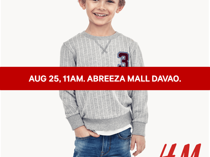 H&M to open in Davao on Aug. 25