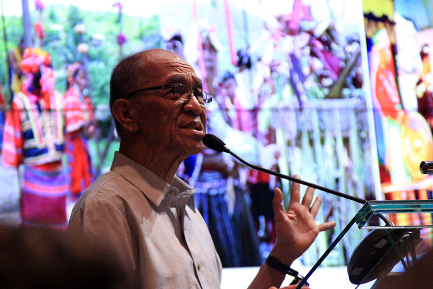 SIGNIFICANCE OF KADAYAWAN. Social activist and Lumad advocate, Karl Gaspar, explains the relevance of Davao City's Kadayawan Festival as a celebration of Lumad stuggle for their ancestral domain during a forum at the Ateneo de Davao University Tuesday, August 16. (Earl O. Condeza/davaotoday.com)
