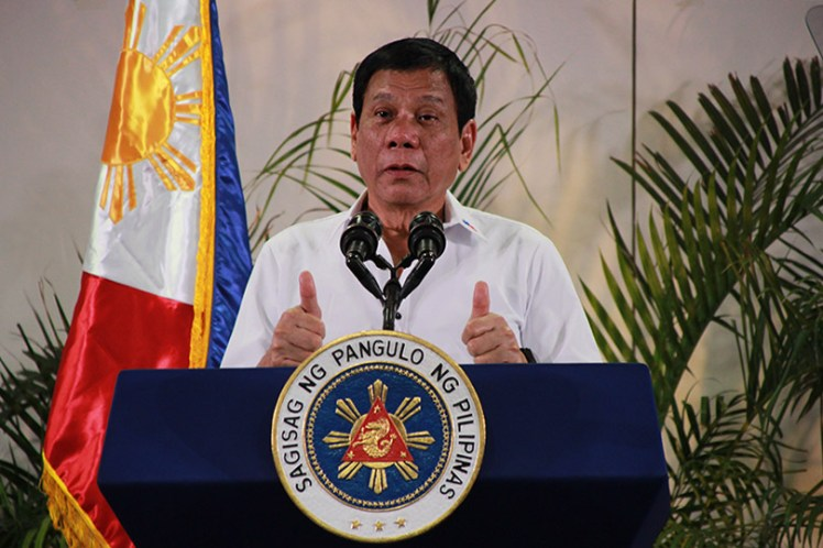 FRESH FROM ASEAN SUMMIT. President Rodrigo Duterte says he is satisfied with his performance at the Association of Southeast Asian Nation Summit recently held in Vientiane, Laos. Duterte arrived Saturday midnight, September 10 at the Davao International Airport where he met with the media to report about his first international trip as head of state. (Paulo C. Rizal/davaotoday.com)