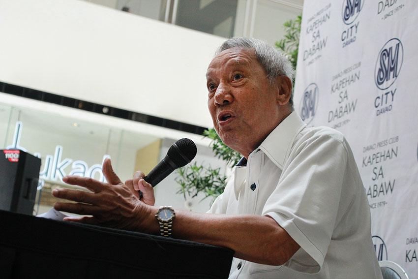 Long-time Federalism advocate Architect Florencio Gavino III says that it will take the national government an approximate amount of P200 billion for the initial implementation of federalism based on studies by experts, and the proposal of the Kilos Pederalismo sa Pagbabago of dividing the country into five federal states. (Paulo C. Rizal/davaotoday.com)