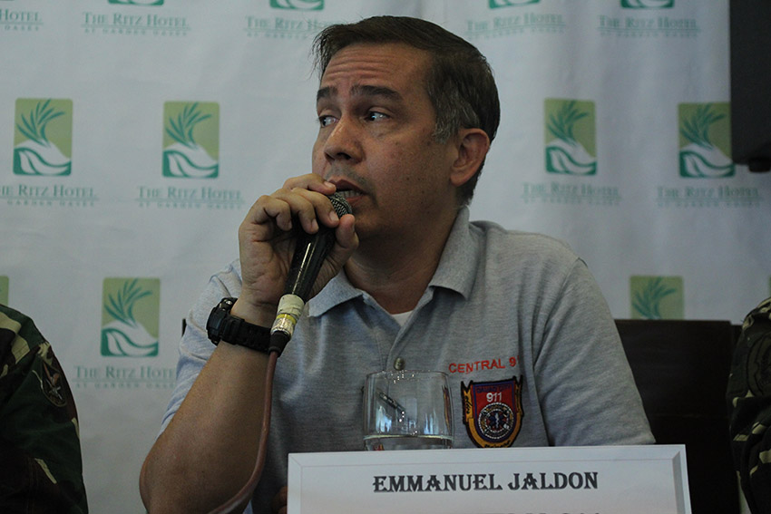 City Risk Reduction Management Office chief Emmanuel Jaldon says the number of prank calls drastically dropped after charge in 911 calls were implemented. (Paulo C. Rizal/davaotoday.com)