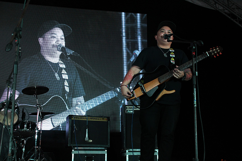 Aiza Seguerra, chairperson of the National Youth Commission was among those who performed during the event. (Paulo C. Rizal/davaotoday.com)