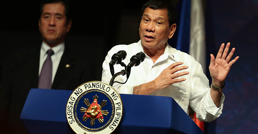 Rodrigo Duterte Speaks Soothingly to Japan