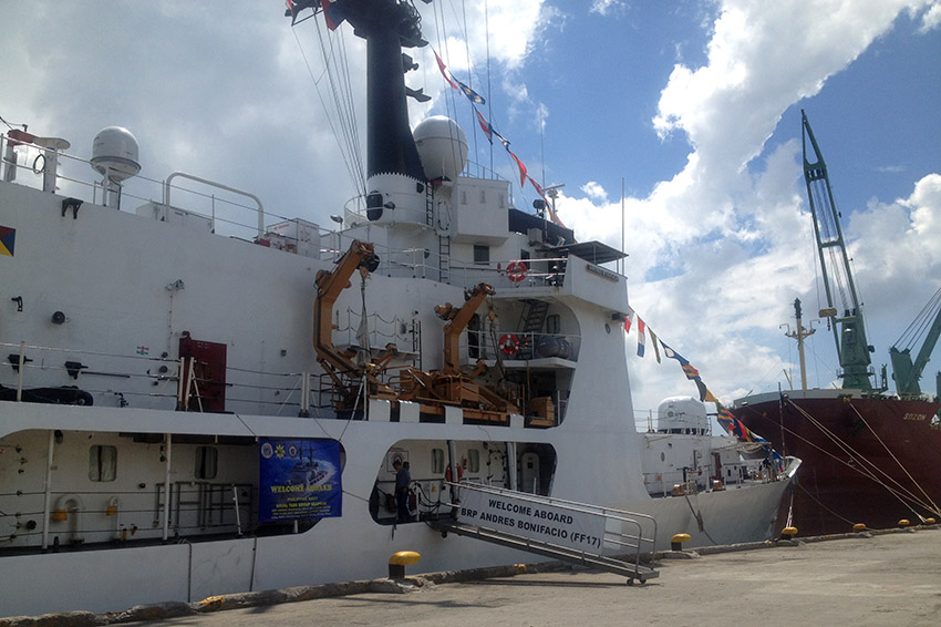 BRP Andres Bonifacio leaves Davao for Iligan