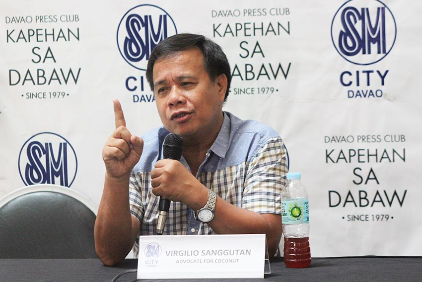 Virgilio Sangutan, president of the Davao Inventors Association says that a South Korean company is eyeing to source four to six tons of virgin coconut oil from local producers in Davao region. South Korea is among the world's leading manufacturer of beauty products. (Christine Megriño/davaotoday.com)