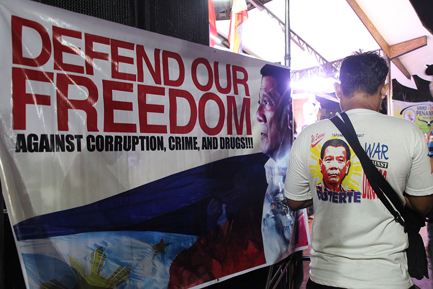 IN PHOTOS | Duterte supporters rally vs. corruption, drugs in Davao