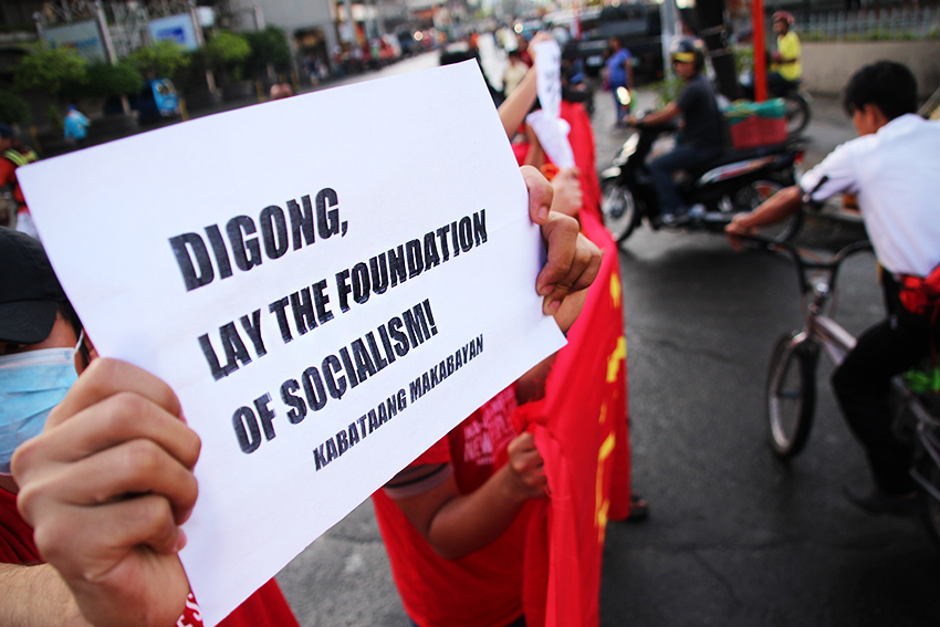 NPA at 48: Red youth groups hold lighting rally in Davao