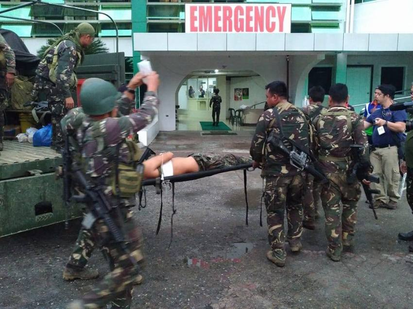 IN PHOTOS | Several soldiers wounded in Marawi