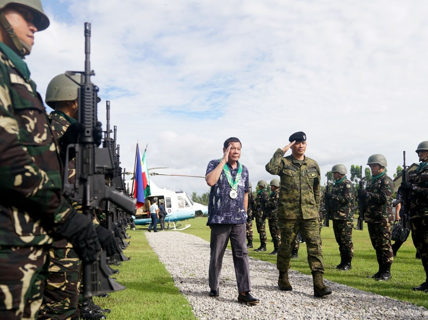 Duterte's Marawi trip cancelled due to weather