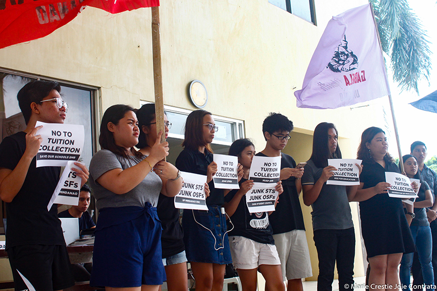 UP Mindanao students protest collection of tuition