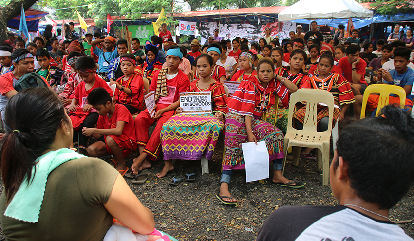 Lumad students listen to nightmares of 'Tokhang' victims